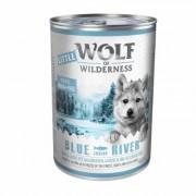 Little Wolf of Wilderness Junior 12 x 400 g - Blue River - Pollo & Salmone