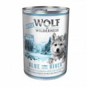 Little Wolf of Wilderness Junior 12 x 400 g - Blue River Junior - Pollo & Salmone