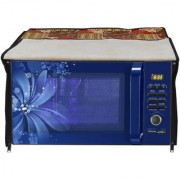 Glassiano Abstract Beige Printed Microwave Oven Cover for IFB 30 Litre Convection Microwave Oven 30SC4 Metallic Silver