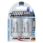 1x2 Ansmann NiMH rech.bat. 10000 Mono D 9300 mAh