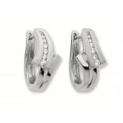 Zilveren Oorbellen klapcreolen met zirconia 107.6178.00
