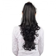 Homeoculture Black hair extension with Plastic clutcher 24 inches