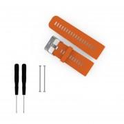 EY Silicona Suave Watchband Liberación Rápida Para Garmin Reloj De Pulsera Vivoactive HR-Naranja