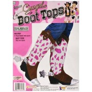 forum novelties 62032 Adult-Cowgirl Boot Top, Pink/White
