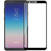 Wondrous(TM) Edge to Edge Tempered Glass (Curved Arc Edges 9H Hardness) for Samsung Galaxy A7 2018 Edition (Triple Camera)