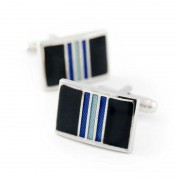 Ulterior Motive Midnight Wave Cufflinks Black/Blue