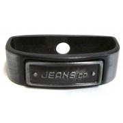 Jeans kovové pútko tmavé