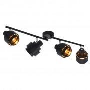 vidaXL 4-посочна спот лампа, черна, E14