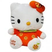 Hello Kitty Plush, Orange/White