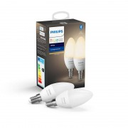 Philips Hue White Pack 2 Lâmpadas LED Inteligente E14 5.5W Branca Quente