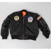 dzseki gyermek MIL-TEC - Flieger Jacke - Black - 12003502