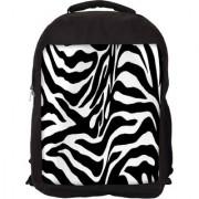 Zebra Skin Designer Laptop Backpacks