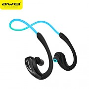 AWEI A880BL Voice Prompt NFC Pairing Wireless Bluetooth Headphone Headset for iPhone Samsung - Blue