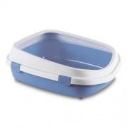 STEFANPLAST QUEEN 55x71x24,5cm extra velká modrá toaleta s okrajem