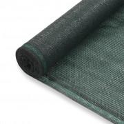 vidaXL Rede de ténis PEAD 2x100 m verde