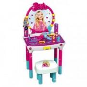 Jucarie masuta toaleta Beauty Studio Barbie cu oglinda scaunel accesorii sunete