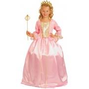 Vegaoo Rosa prinsessa - utklädnad barn 122 -134 cm (7-9 år)