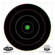 BIRCHWOOD CASEY DIRTY BIRD 8 INCH MULTI-COLOR BULL'S-EYE TARGET (20)
