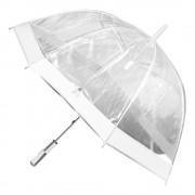 Umbrela transparenta tip clopot-alb