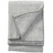 Klippan Plaid wol Domino grijs-wit 180x130cm