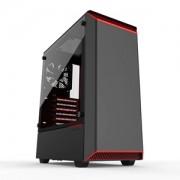 Carcasa Phanteks Eclipse P300 Tempered Glass Black/Red