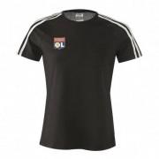adidas T-shirt noir 3 bandes adidas Femme - XL OL - Foot Lyon