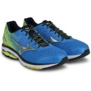 Mizuno Wave Rider 19 Running Shoes For Men(Blue, Yellow, White)