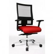Topstar PROFI NET 11 Bürodrehstuhl - Rückenlehne in Netzbandoptik, mit Armlehnen - rot