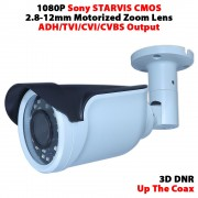 1080P sony IMX291 CMOS 2.8-12mm motorized zoom lens waterproof IR camera support UTC support AHD/TVI/CVI/CVBS