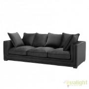 Canapea eleganta design LUX Menorca negru 110817 HZ