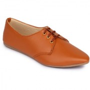 Fashtyle Women Tan Lace Up Casual Shoe