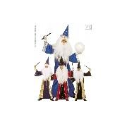 Varázsló jelmez (kék, piros, lila, fekete) 128-as méret