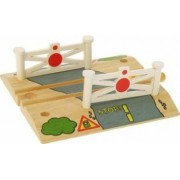 Jucarie educativa Big Jigs Wooden Train Track Level Crossing