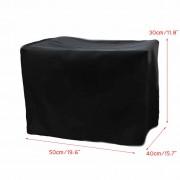 20x16x12 ''Polyester-katoen Blend Stofkap voor OfficeJet Pro 8600 Printer Stoel Tafelkleed zwart Buitenste zilvergrijs Voering
