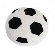 geschenkidee.ch Kissen Football schwarz/weiss