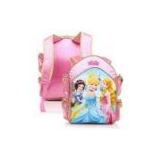 Mochila De Costas Infantil Dermiwil G Castelo 3d Rosa Princesas