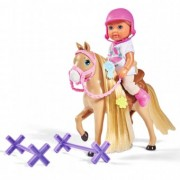 Papusa Evi Love 12 cm Holiday Horse si accesorii