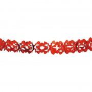 Geen Rode feestslinger in kruisvorm 6 m