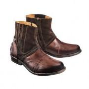 Yellow Cab Büffelleder-Boots, 43 - Braun
