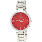 Timex Quartz Red Round Women Watch TW000X203
