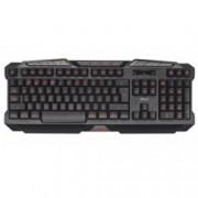 Клавиатура TRUST GXT 280, Гейминг, LED осветление, черна, USB