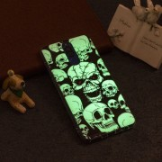 Para Huawei Mate 10 Lite Noctilucent Ojo Rojo Patron Calavera Caso