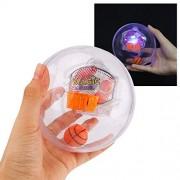Electronic Handheld Basketball Game Fidget Toys 3D Mini Basketball Games LED Flash & Sound