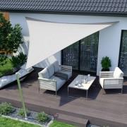 Jarolift Żagiel przeciwsłoneczny, trójkątny, z tkaniny wodoodpornej, kremowy biały, rozmiar 5m x 5m x 5m
