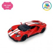 Smiles Creation Kinsmart 1:38 Scale Metal Pull Back Action 2017 Ford GT Car with Butterfly Door Opening Style Toys, Red (5-inch)