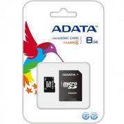 Card memorie micro SD 8 gb clasa 4 si adaptor ADATA
