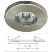 Led beépíthető lámpatest, alumínium, IP44, fix, MR16 foglalattal, matt króm Life Light led