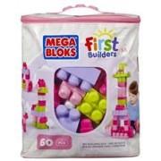 Jucarie Mega Bloks Classic Buildable Bag 60 Pieces Pink
