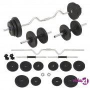 vidaXL Set šipki i utega 30 kg