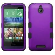 Funda Protector Triple Layer HTC One Desire 510 512 Morado / Negro